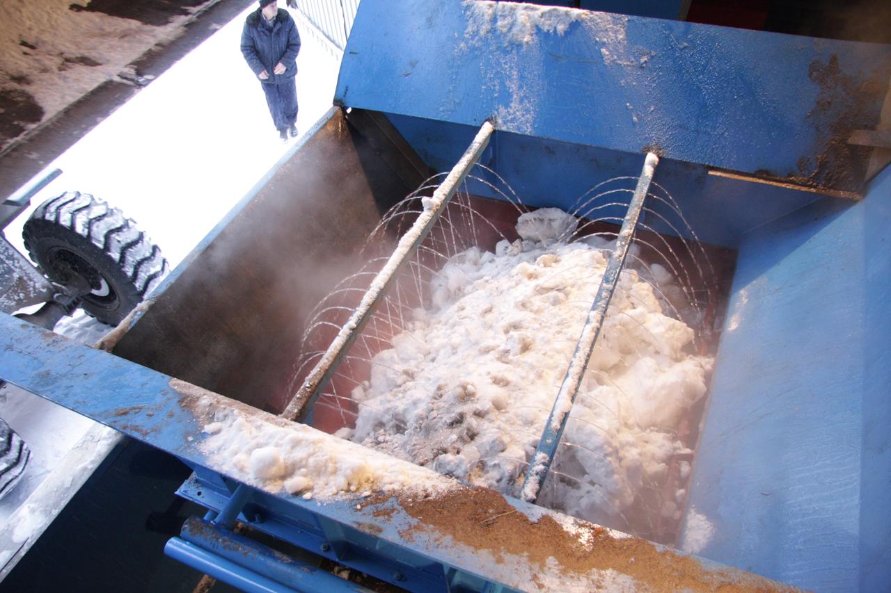 Процесс плавления снега в установке ССП-1