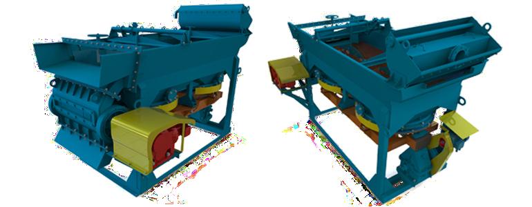 Серия отсадочных машин с роторным разгрузчиком